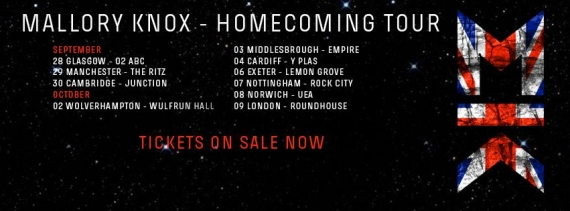 Mallory Knox Featuring Set It Off - 9th October - The Roundhouse, London